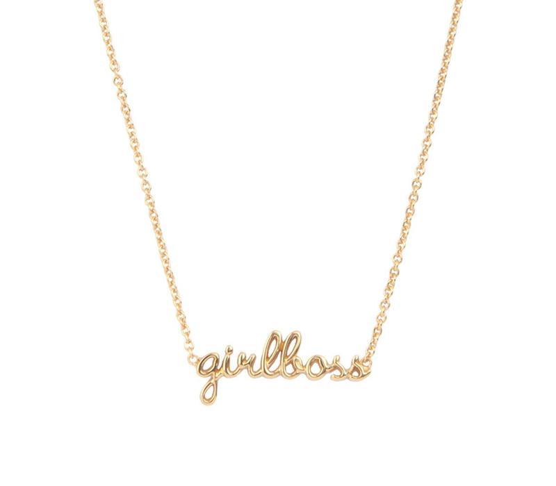 Urban Goldplated Necklace Girlboss