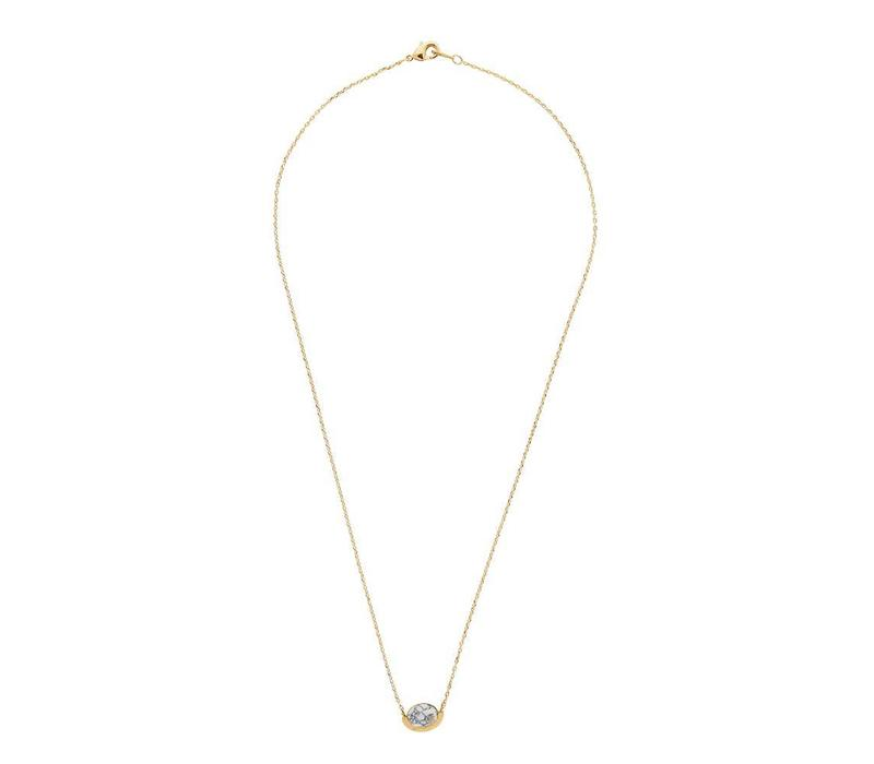 Galaxy Goldplated Necklace Moon A White Howlite