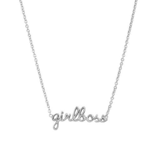 Ketting Girlboss zilver