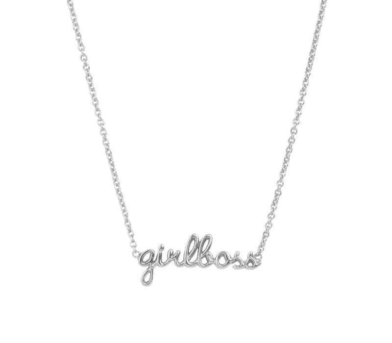 Urban Silverplated Necklace Girlboss