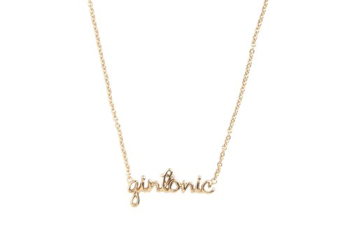 All the Luck in the World Urban Goldplated Necklace Gintonic