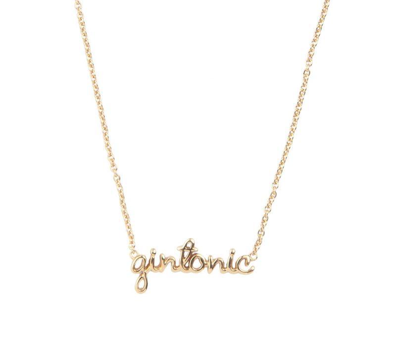 Ketting Gintonic goud