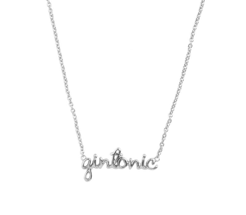 Necklace Gintonic plated