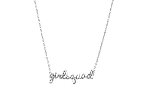 All the Luck in the World Necklace Girlsquad silver