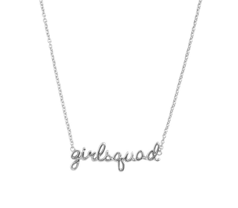 Urban Silverplated Necklace Girlsquad