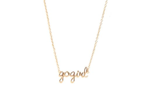 All the luck in the world Ketting Gogirl goud