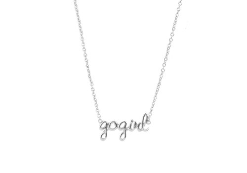 All the Luck in the World Ketting Gogirl zilver