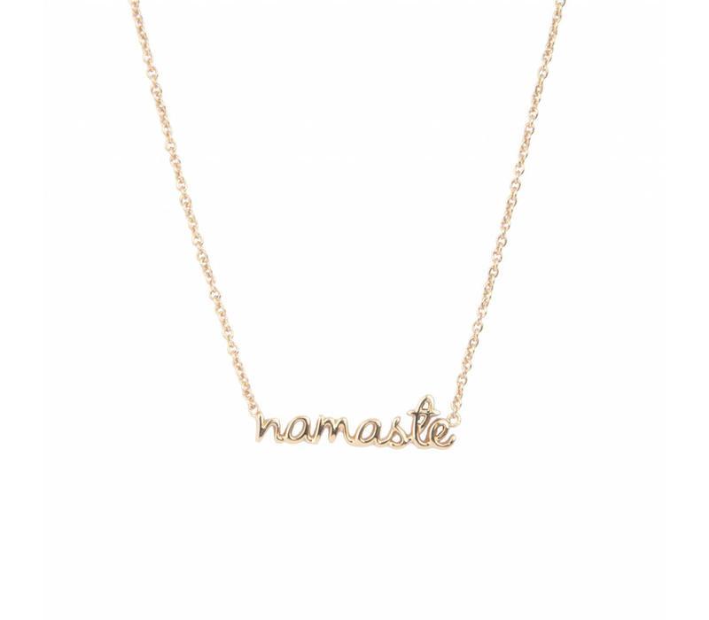 Necklace Namaste plated