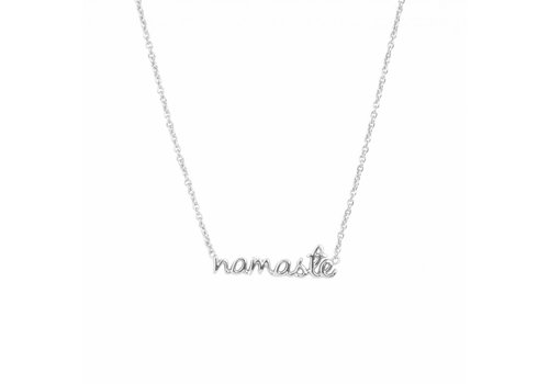 All the Luck in the World Ketting Namaste zilver