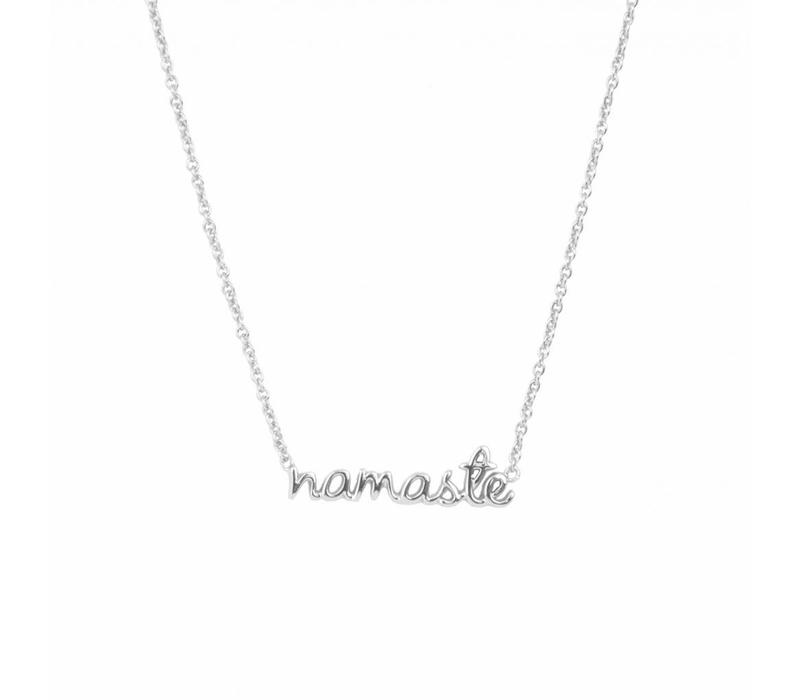 Urban Silverplated Necklace Namaste