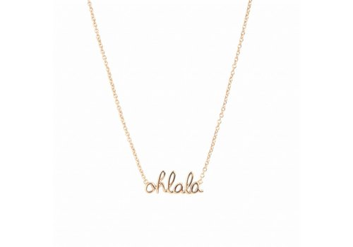 All the luck in the world Ketting Ohlala 18K goud