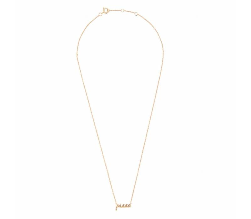 Urban Goldplated Necklace Pizza