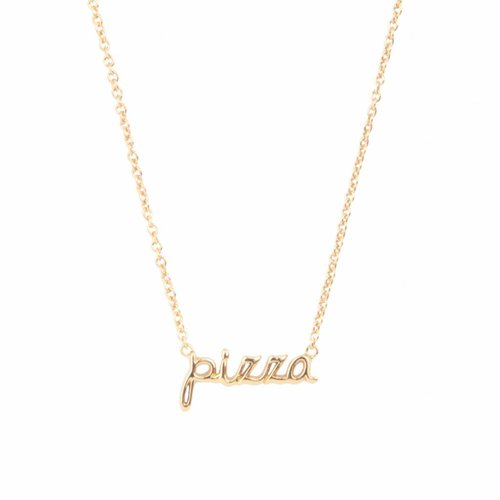 Urban Goldplated Ketting Pizza