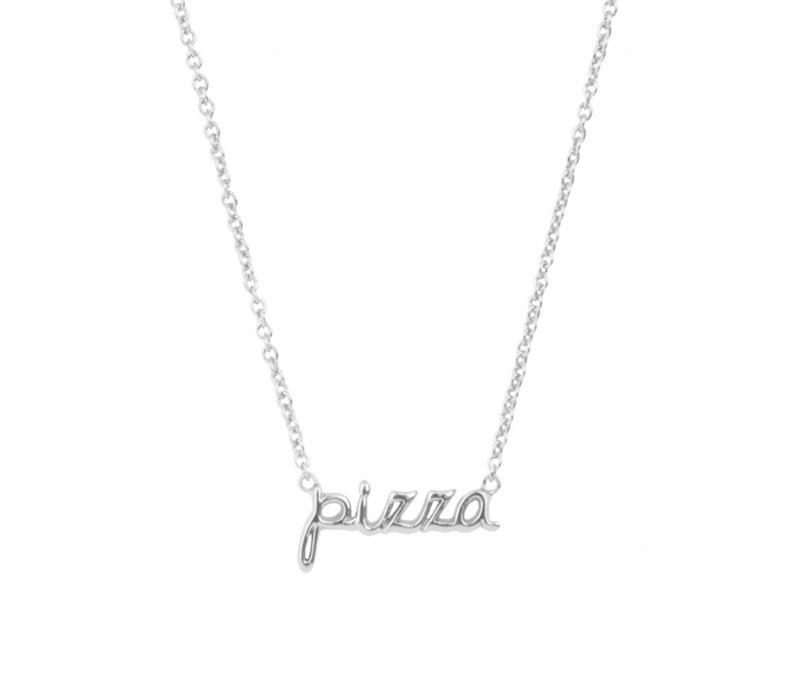 Necklace Pizza silver
