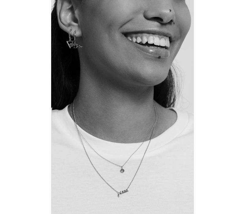 Urban Silverplated Necklace Pizza