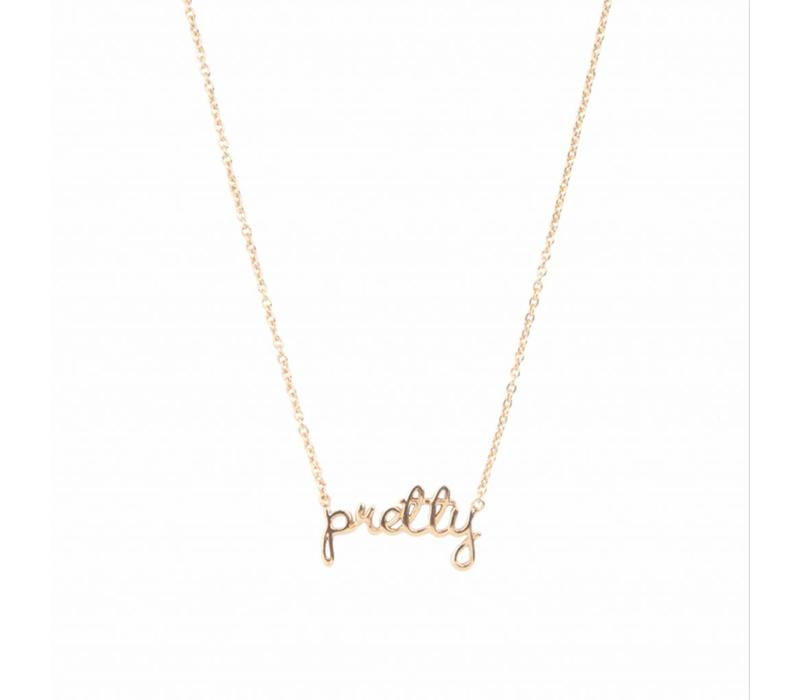 Necklace Pretty gold