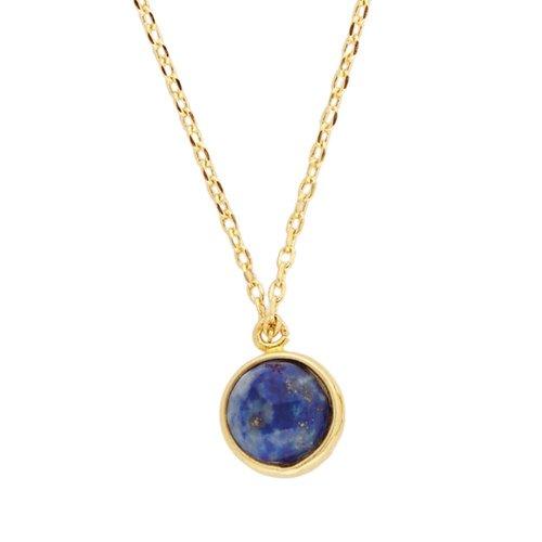 Galaxy Goldplated Necklace Globe Blue Lapis Lazuli