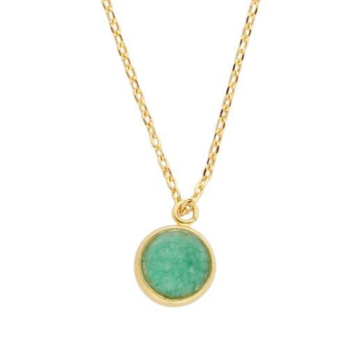Ketting Globe Green Chrysoprase goud