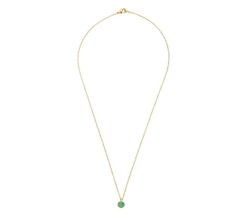 Galaxy Goldplated Necklace Globe Green Chrysoprase