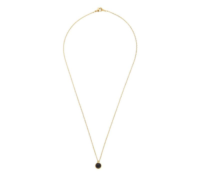 Galaxy Goldplated Necklace Globe Black Howlite