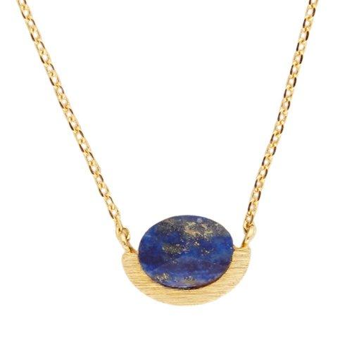 Ketting Moon A Blue Lapis Lazuli goud