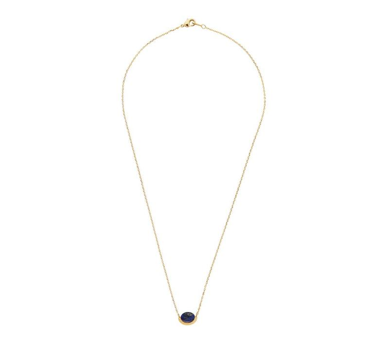 Galaxy Goldplated Necklace Moon A Blue Lapis Lazuli