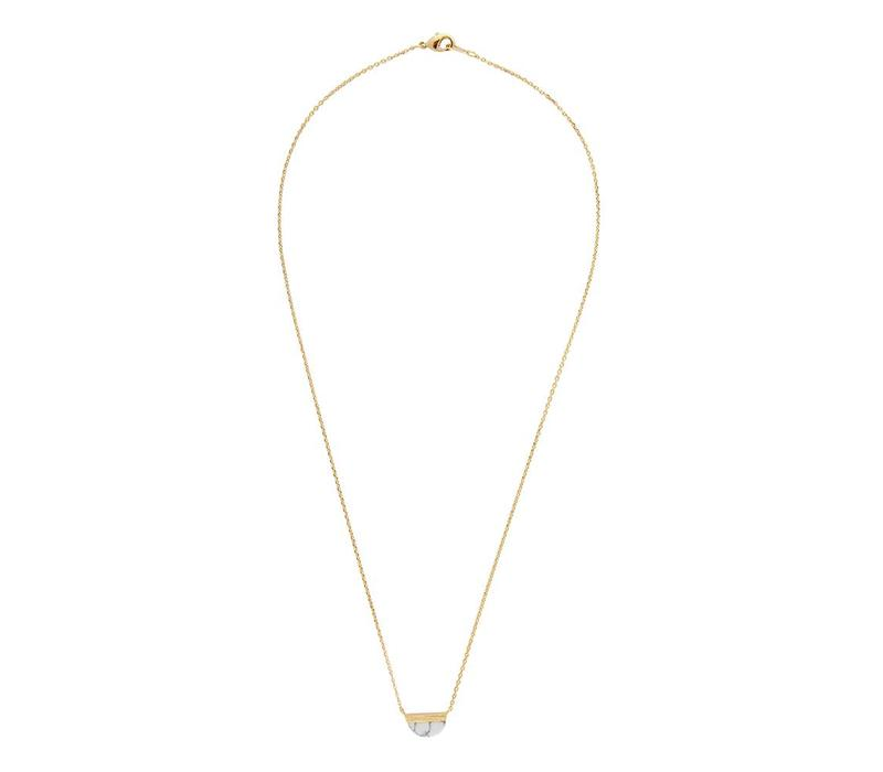 Ketting Moon B White Howlite goud