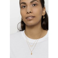 Necklace Moon B White Howlite gold