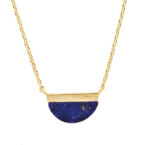 Ketting Moon B Blue Lapis Lazuli goud