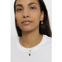 Ketting Moon C Black Howlite goud
