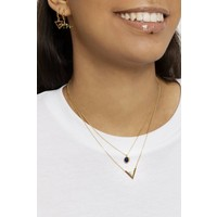 Galaxy Goldplated Necklace Triangle A White Howlite