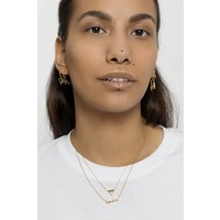 Galaxy Goldplated Necklace Triangle B White Howlite