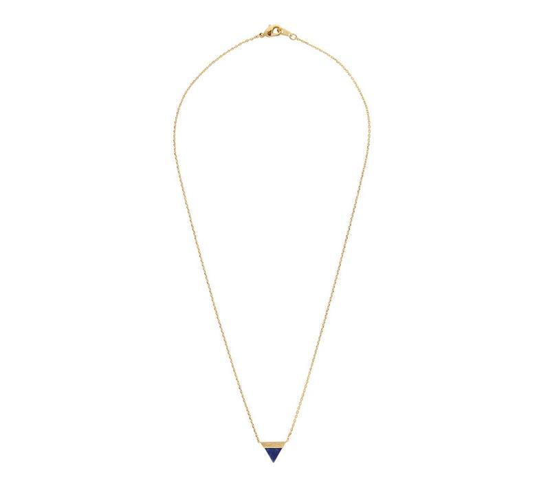 Galaxy Goldplated Ketting Triangle B Blue Lapis Lazuli