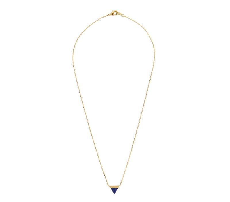 Ketting Triangle B Blue Lapis Lazuli goud