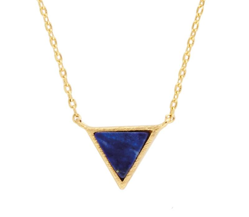 Galaxy Goldplated Necklace Triangle C Blue Lapis Lazuli
