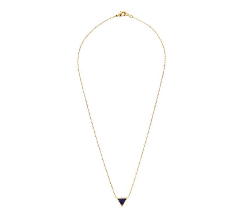 Ketting Triangle C Blue Lapis Lazuli goud