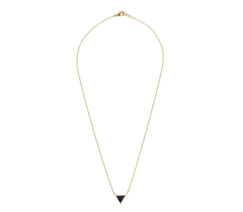 Necklace Triangle C Blue Lapis Lazuli gold