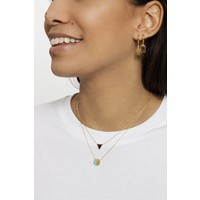 Galaxy Goldplated Necklace Triangle C Black Howlite