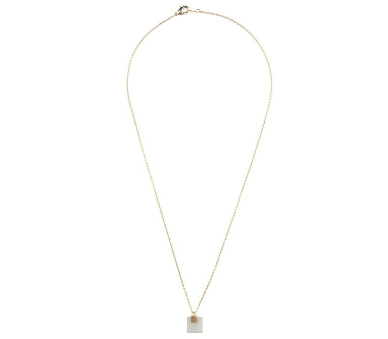 Ketting Pastel New Jade Square 18K goud