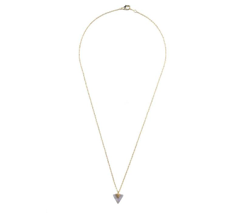 Ketting Pastel Purple Amethyst Triangle goud