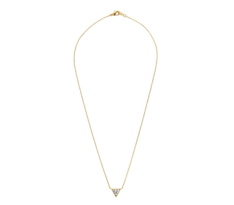 Galaxy Goldplated Necklace Triangle C White Howlite