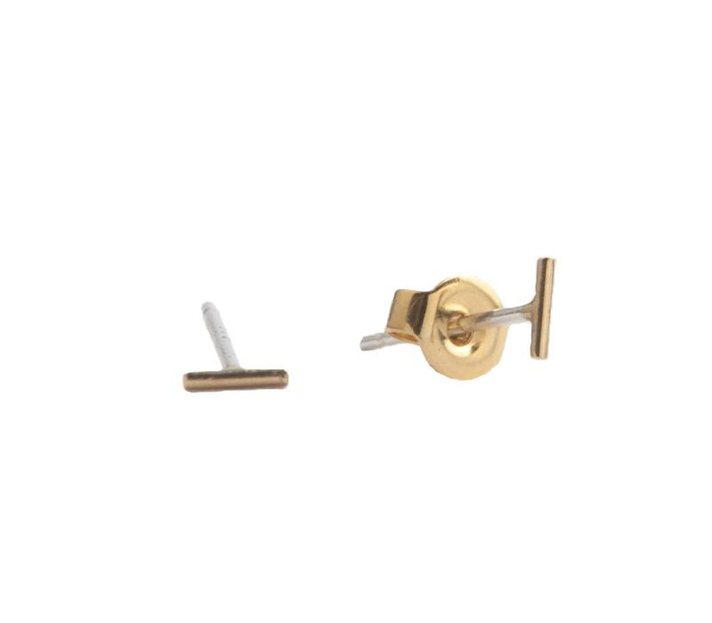 Oorbellen Mini Strip goud