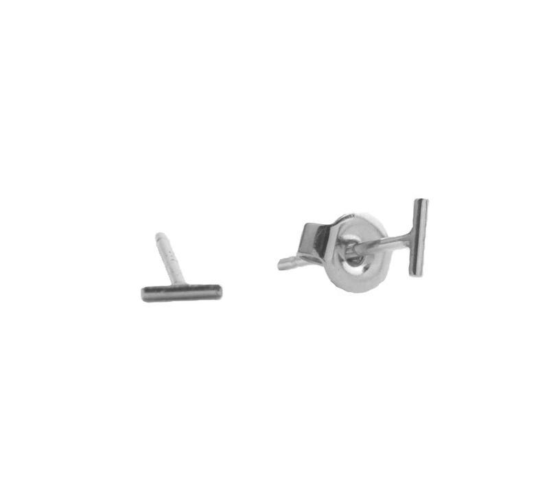 Petite Sterling Silver Oorbellen Mini Strip