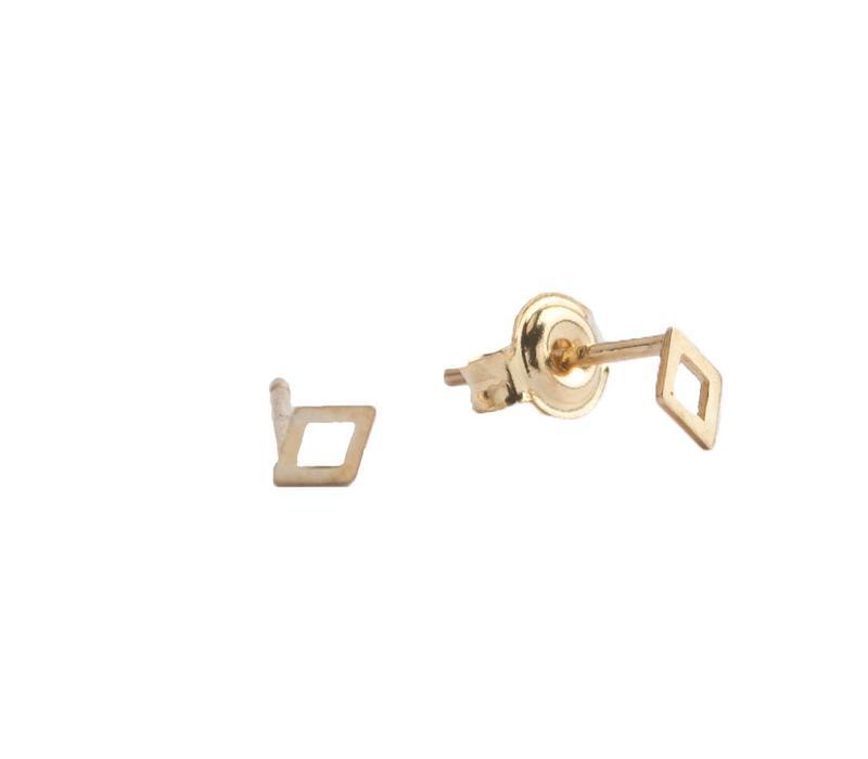 Earrings Rhomb gold