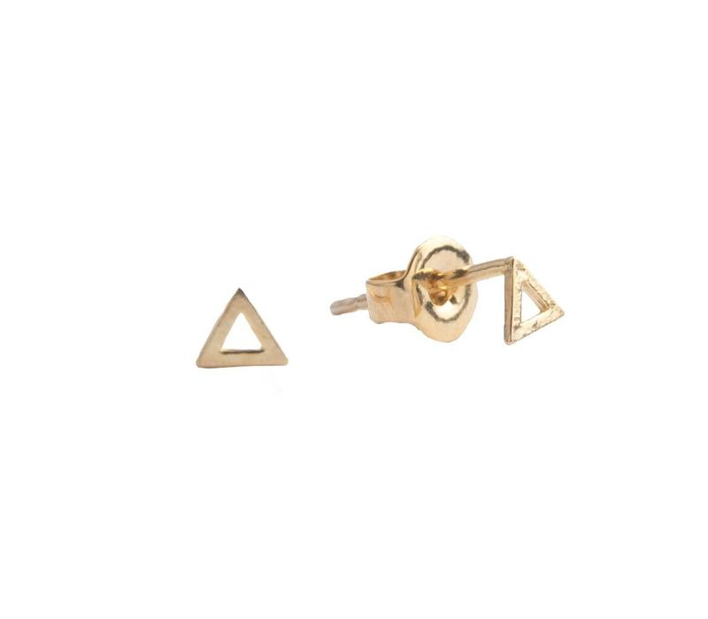 Petite Goldplated Sterling Silver Earrings Triangle