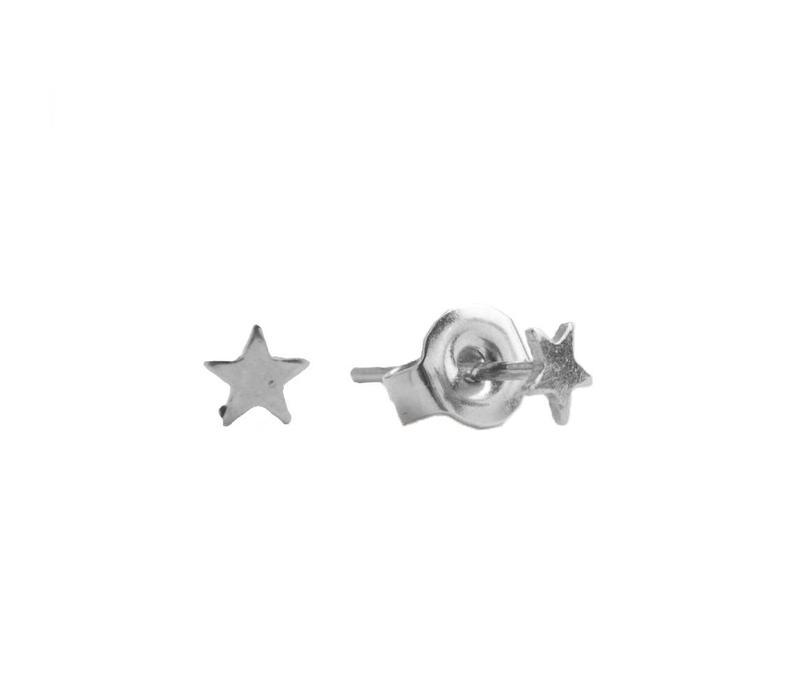 Oorbellen Ster zilver