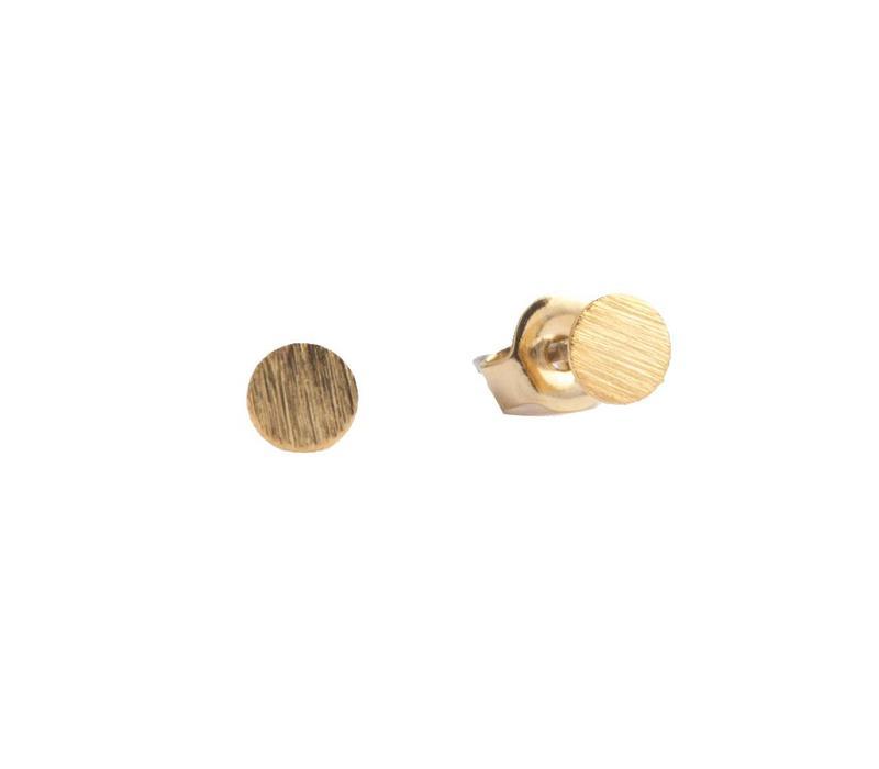 Petite Goldplated Sterling Silver Oorbellen Munt
