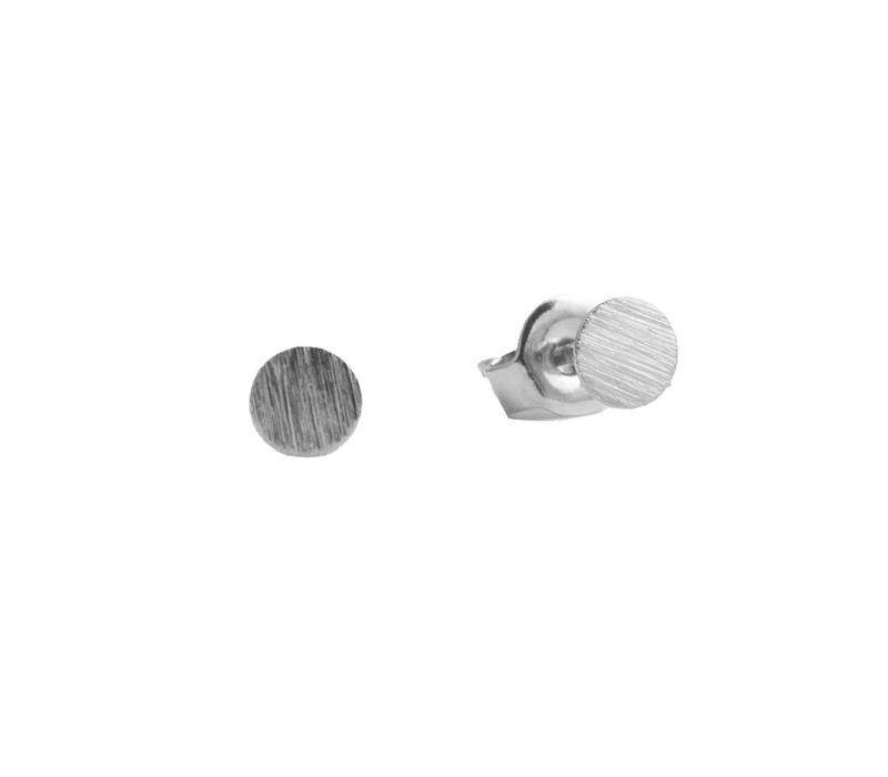Petite Sterling Silver Earrings Coin