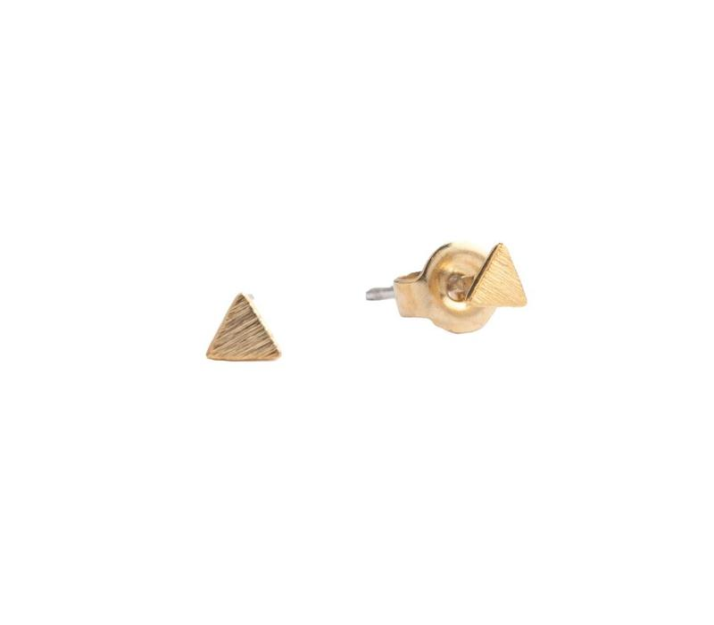 Petite Goldplated Sterling Silver Earrings Solid Triangle