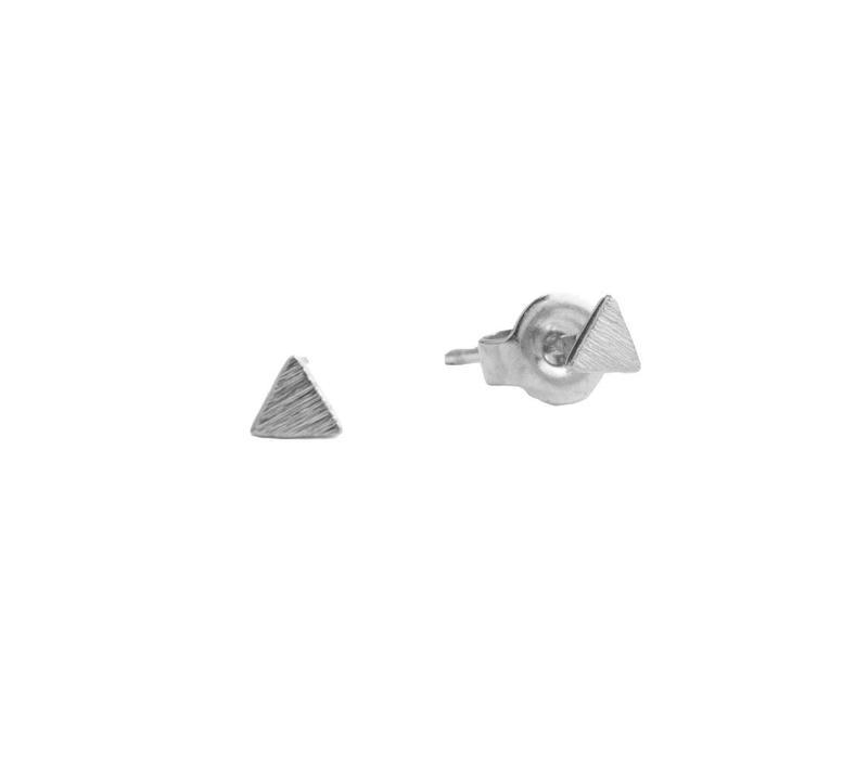 Petite Sterling Silver Oorbellen Solide driehoek